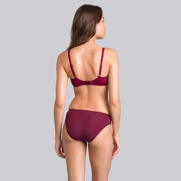 Purple burgundy mini briefs - Flower Elegance-PLAYTEX