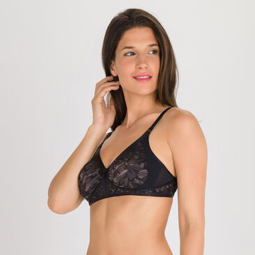 Sujetador sin aros negro gris - Ideal Beauty Lace, , PLAYTEX