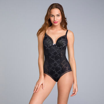 Body de encaje negro - Invisible Elegance, , PLAYTEX