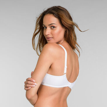 Full cup bra in white Classic Cotton Support, , PLAYTEX