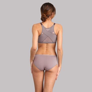 Lace midi knickers in mink - Ideal Posture, , PLAYTEX