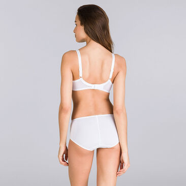 Full Cup Bra in White – Classic Micro Support-PLAYTEX