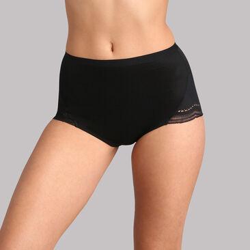 Culotte maxi dentelle noire Secret Comfort, , PLAYTEX