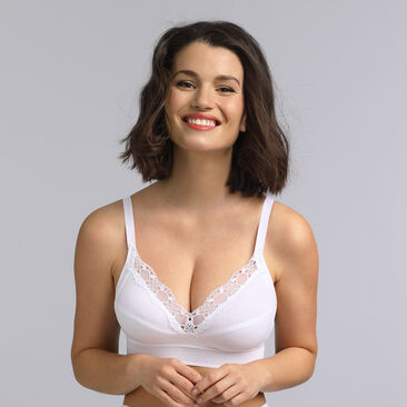 Non wired touch of organic cotton bra Feel Good Support, , PLAYTEX