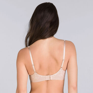 Beige underwired bra - Expert in Silhouette-PLAYTEX