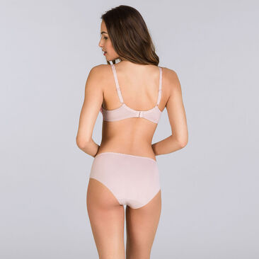 Pink and beige Midi brief - Flower Elegance-PLAYTEX