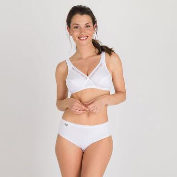 Wireless Bra in white – Cotton Support-PLAYTEX