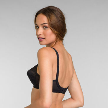 2 Pack of Non Wired Bras in Black / White Cross Your Heart 165, , PLAYTEX