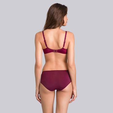 Purple burgundy full-cup bra - Flower Elegance-PLAYTEX