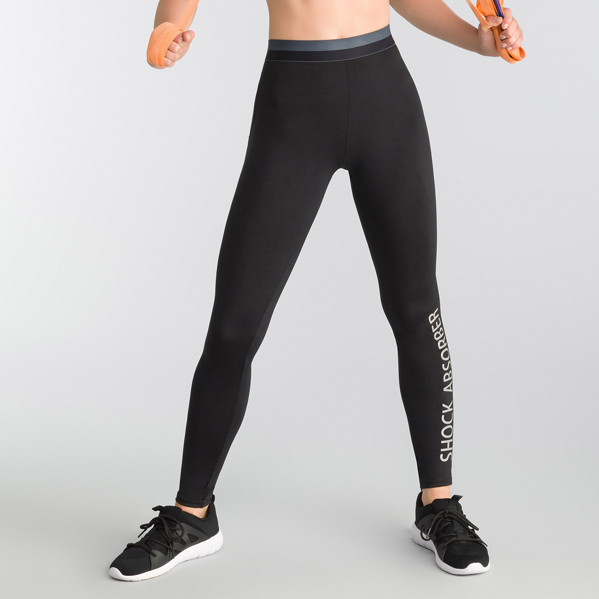 Legging deportivo Active Wear negro Shock Absorber, , DIM