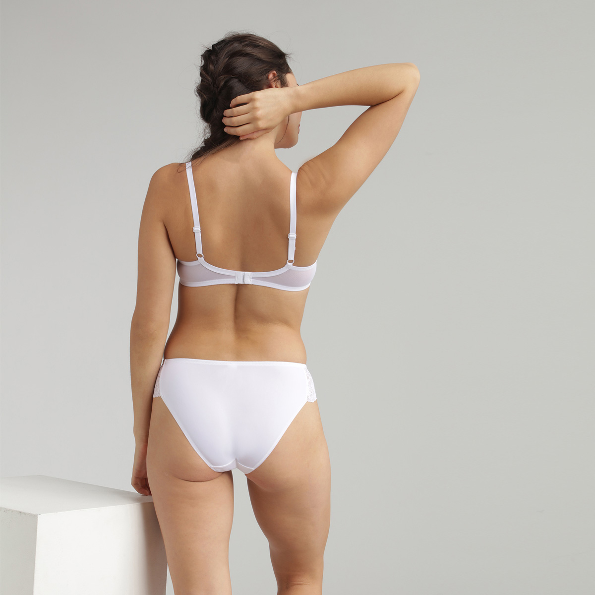 Braga mini de encaje blanco Essential Elegance , , PLAYTEX