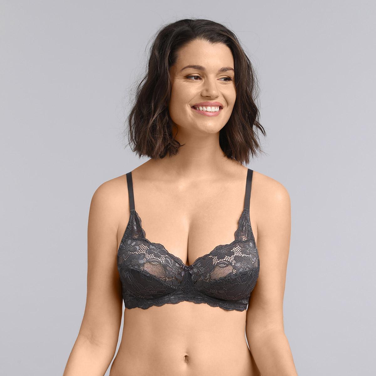 Non-wired bra in grey Essential Elegance, , PLAYTEX
