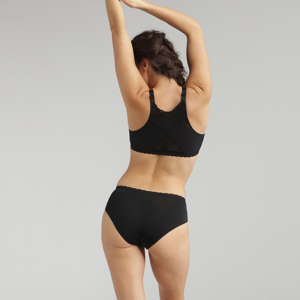 Soutien-gorge ouverture devant noir sans armatures Ideal Posture, , PLAYTEX