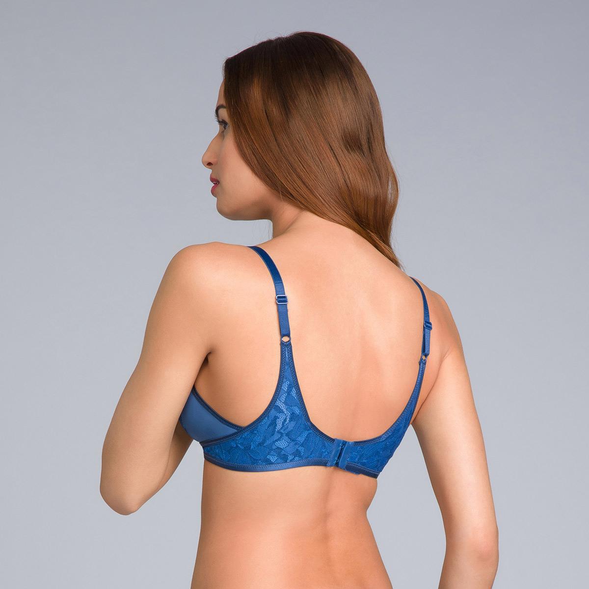 Soutien-gorge sans armatures bleu marine - Ideal Beauty Lace, , PLAYTEX