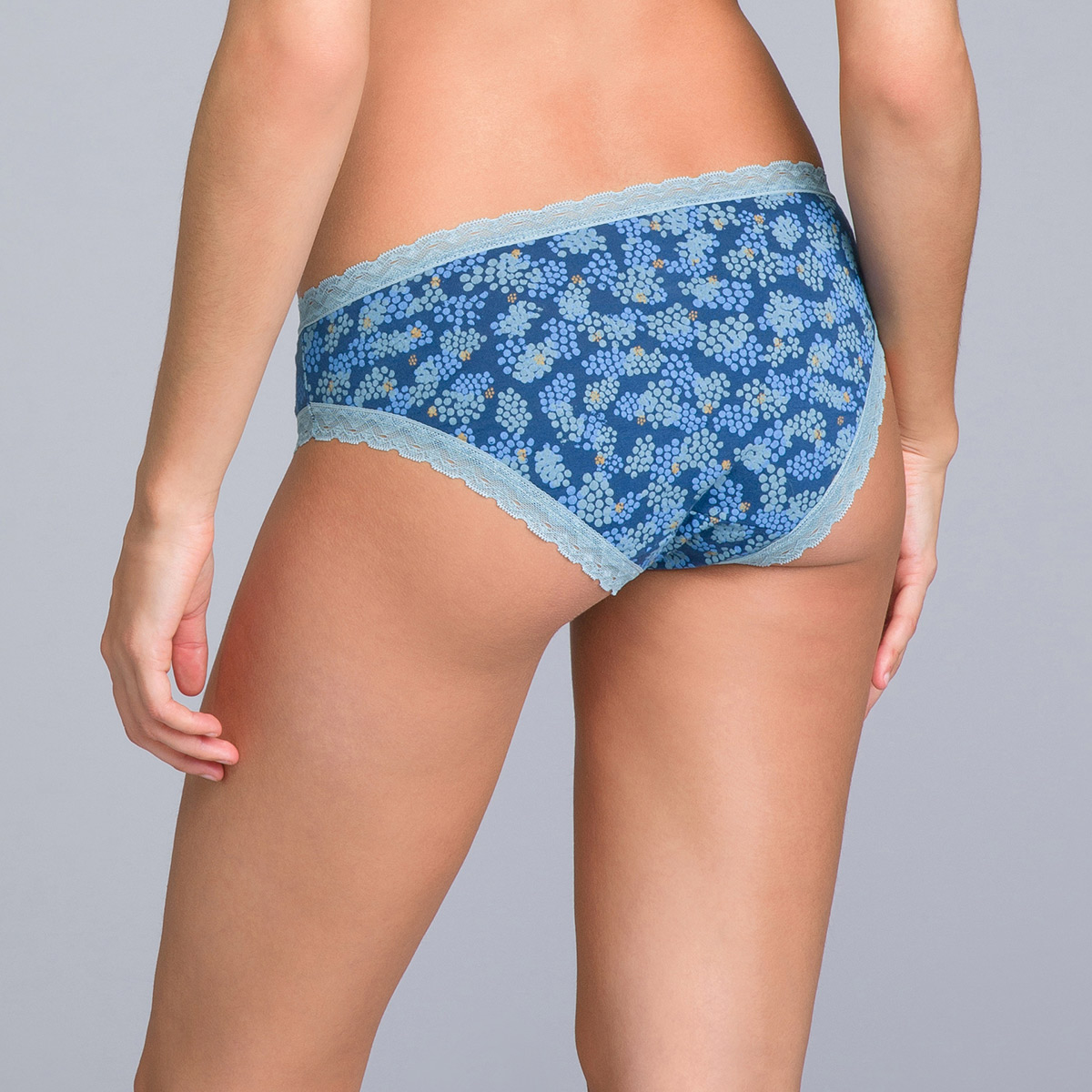 Pack of 2 Bikini Knickers in Blue Flower Print - Cotton Fancy - PLAYTEX