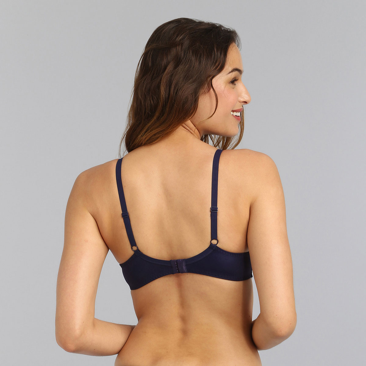 Sujetador con aros azul marino Essential Elegance Embroidery, , PLAYTEX