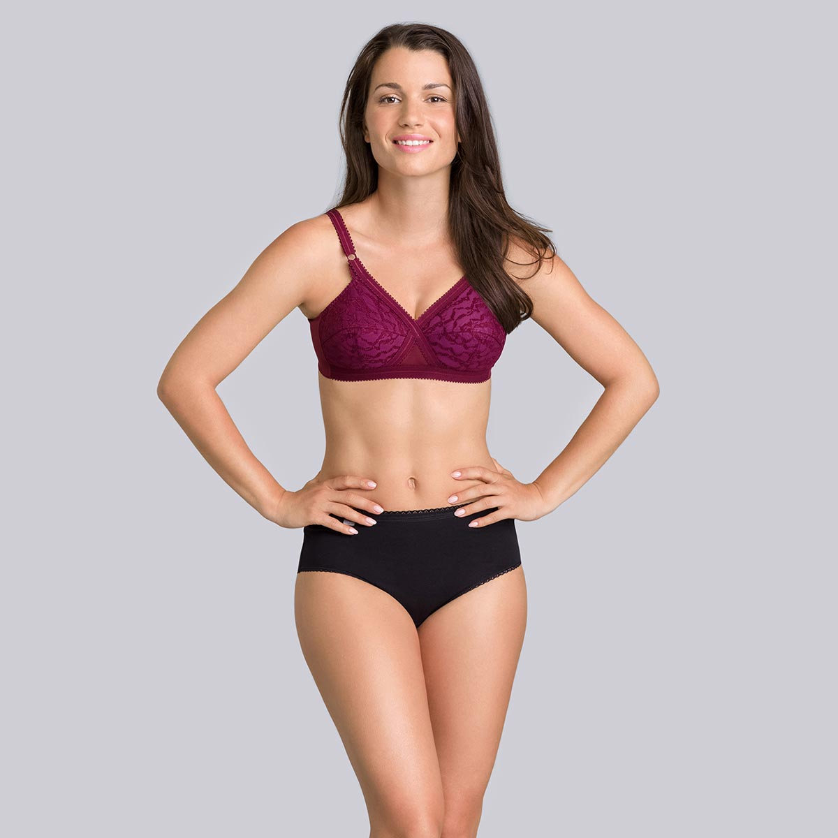 Purple burgundy non-wired bra - Cross your Heart-PLAYTEX
