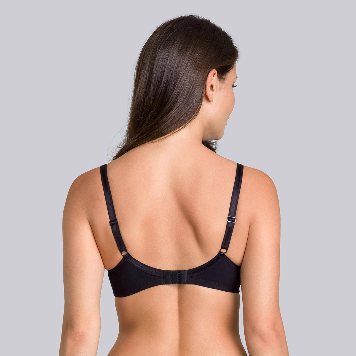 Non-Wired Cotton Bra in Black - Cotton Support-PLAYTEX
