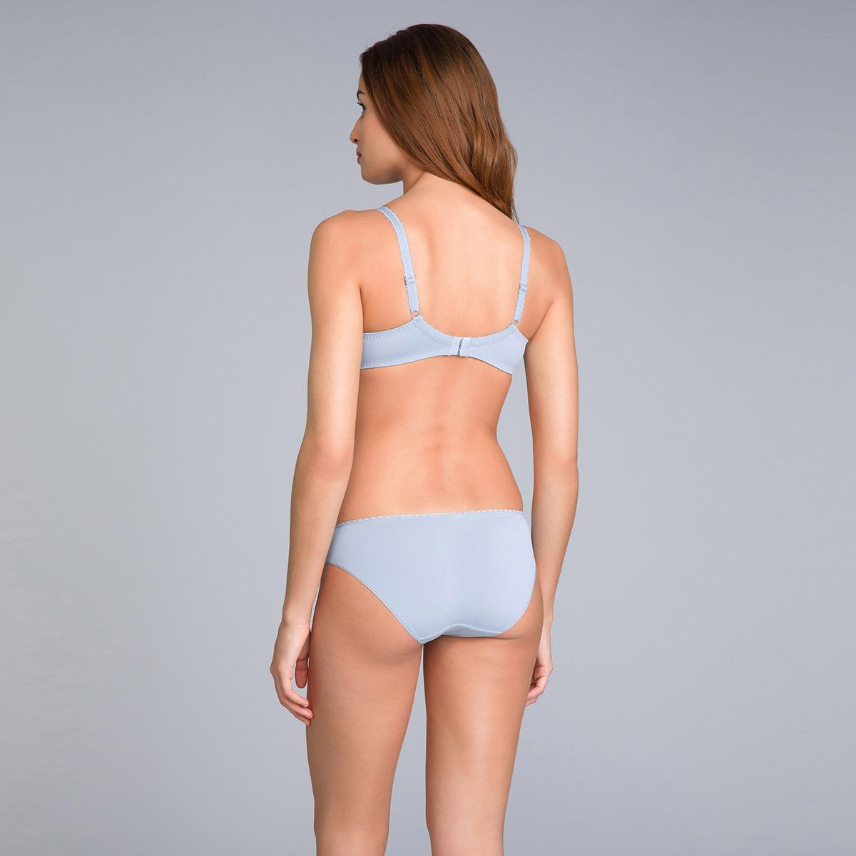 Culotte Mini gris bleuté imprimé - Flower Elegance Micro, , PLAYTEX