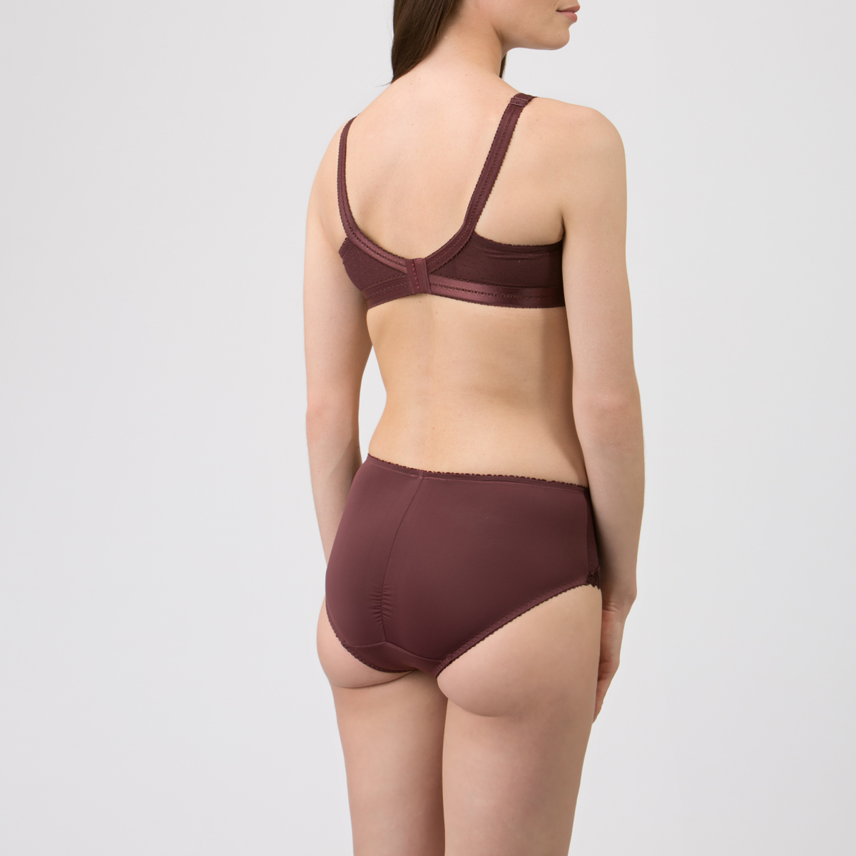 Non-wired Bra in Brown – Classic Lace Support-PLAYTEX