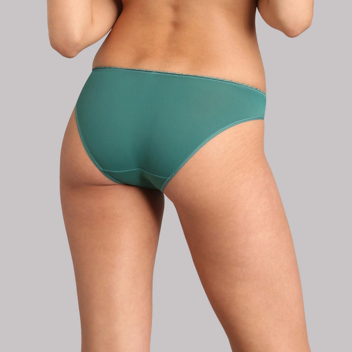 Bikini style knickers in palm green - Flower Elegance, , PLAYTEX