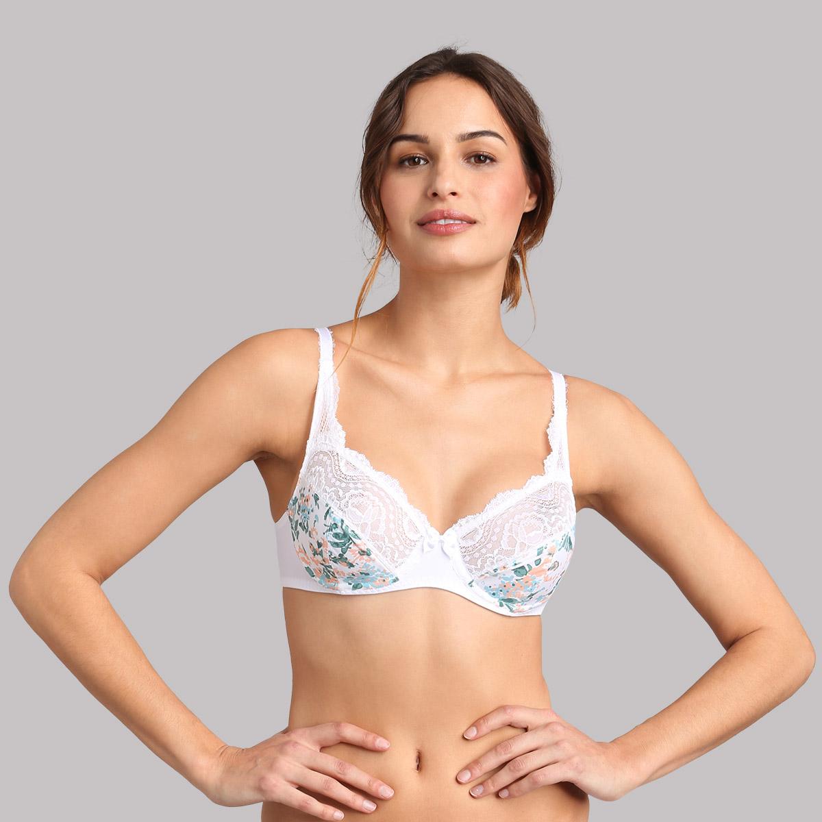 Underwired bra in white blossom print - Flower Elegance Micro, , PLAYTEX