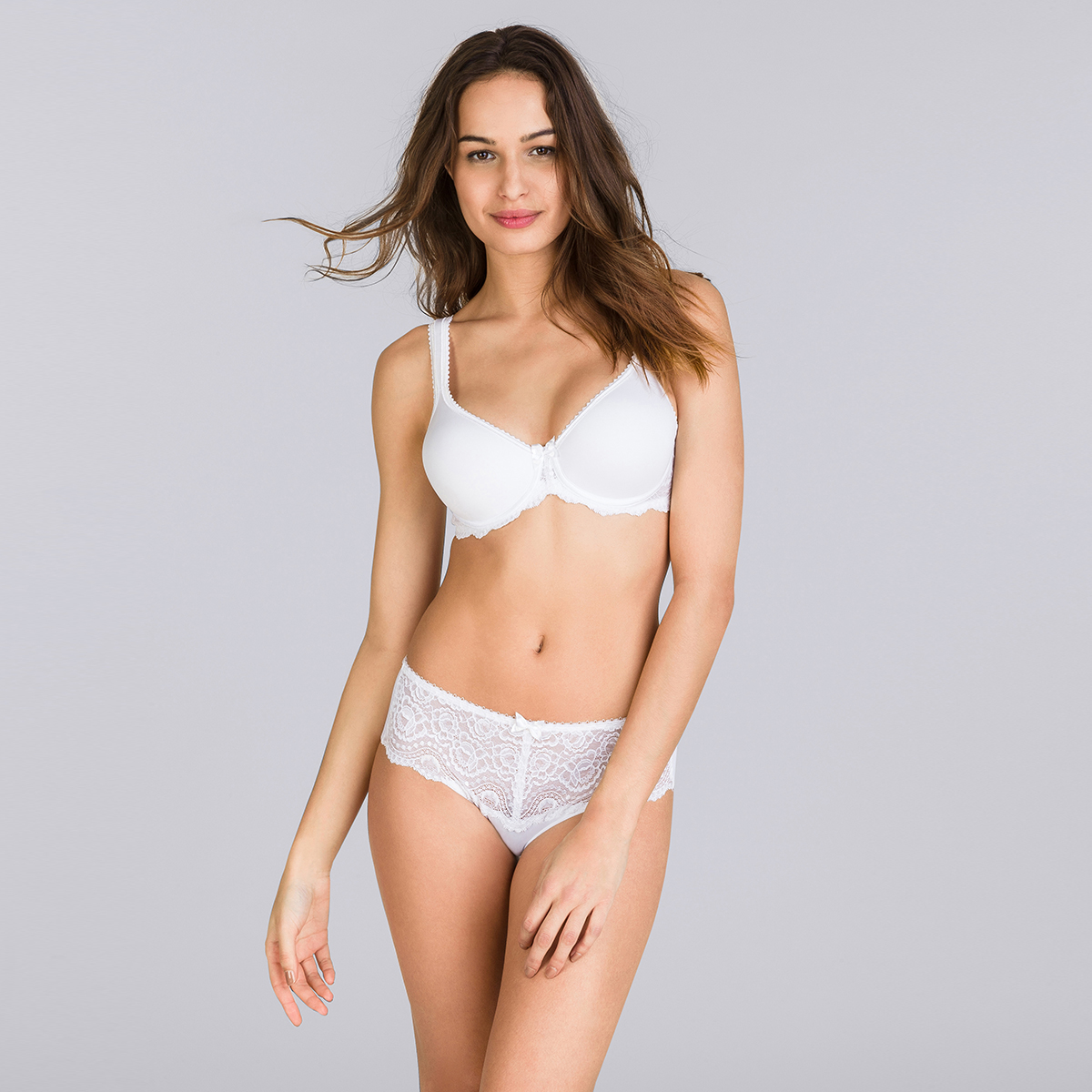 Non-wired Spacer Bra in White – Flower Elegance, , PLAYTEX