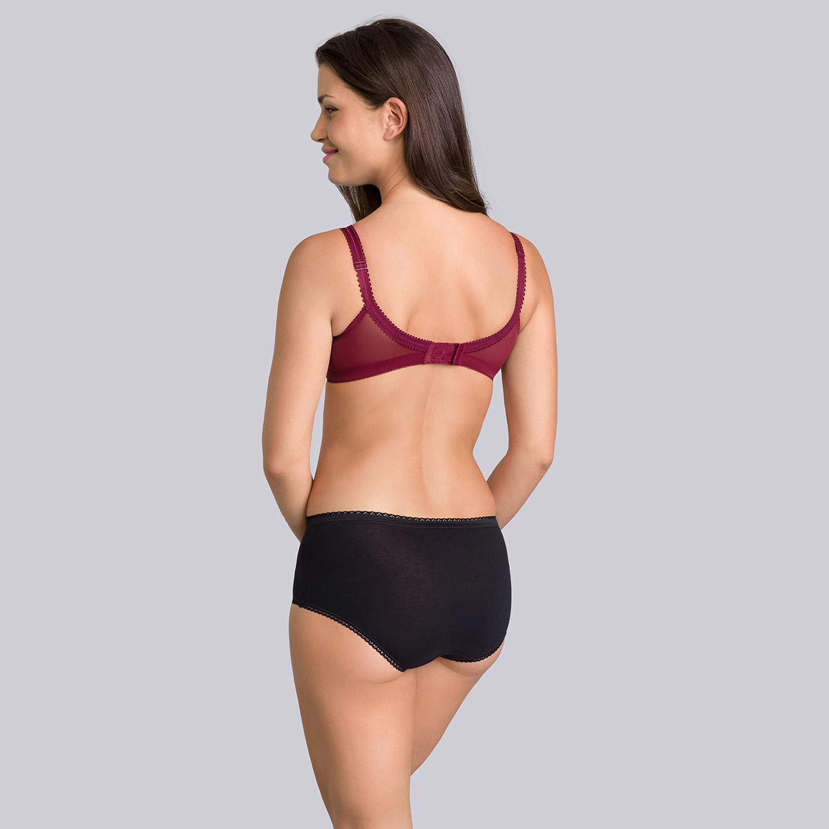 Non-wired Bra in Burgundy - Cross Your Heart, , PLAYTEX