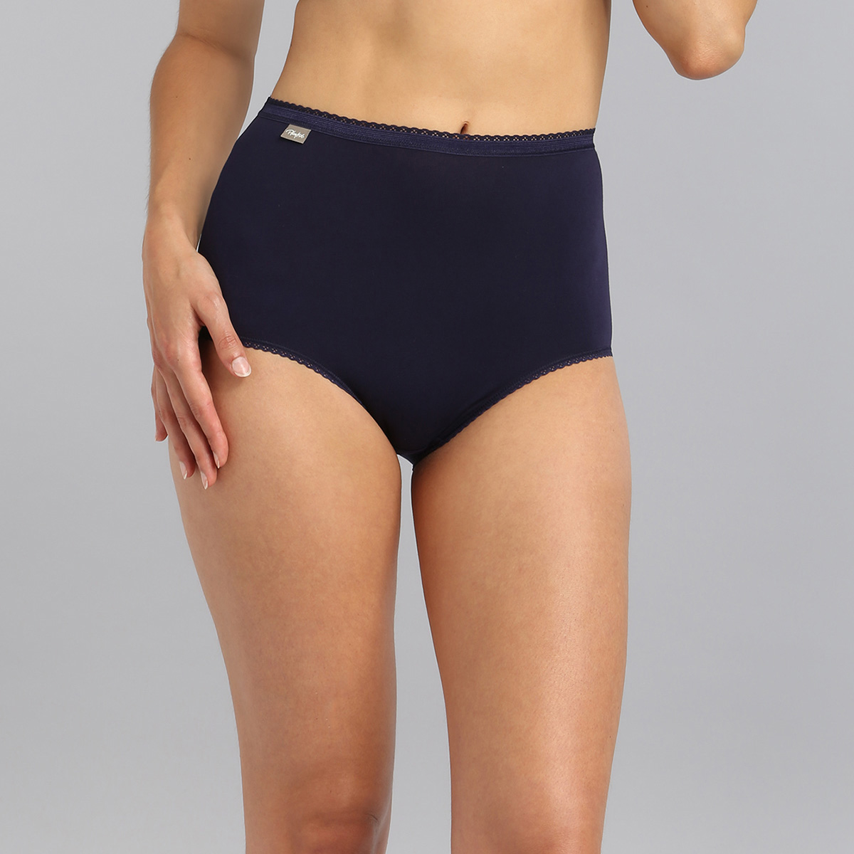 3 braguitas clasicas Algodon Cotton Stretch, , PLAYTEX