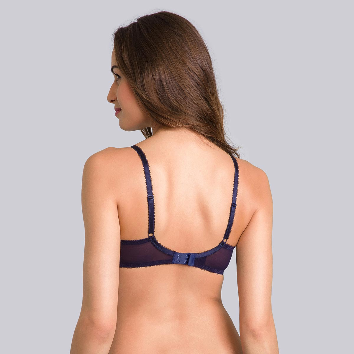 Blue balconette bra with coral print - Daily Elegance-PLAYTEX
