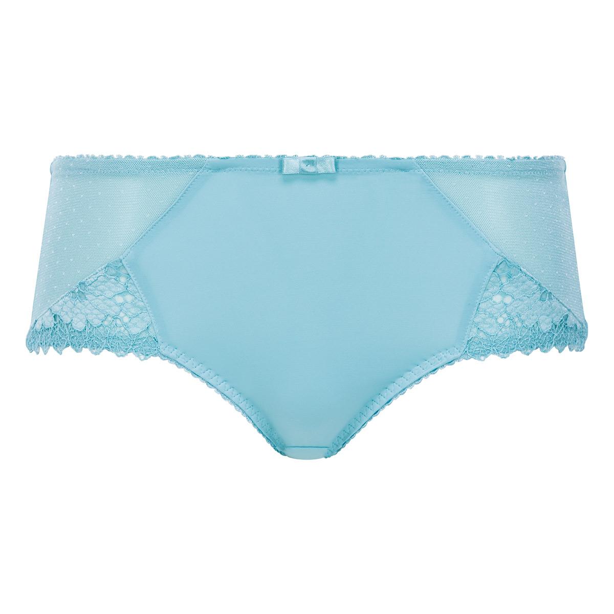 Culotte dentelle Midi bleu lagon - Cœur Croisé Féminin, , PLAYTEX