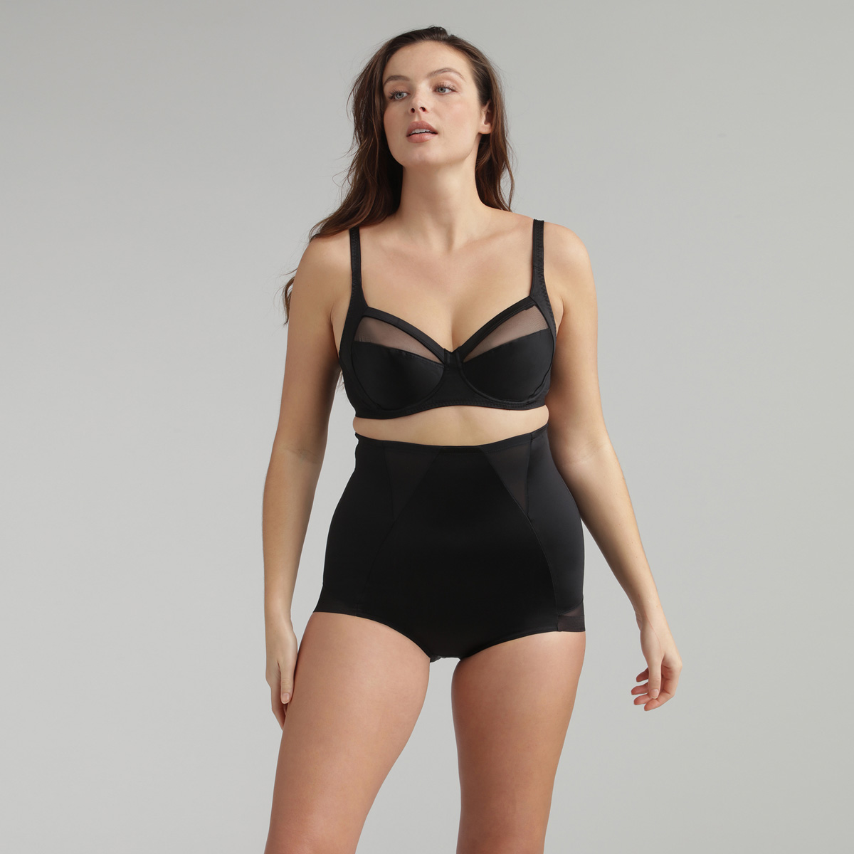 High-Waisted Girdle in Black – Perfect Silhouette, , PLAYTEX