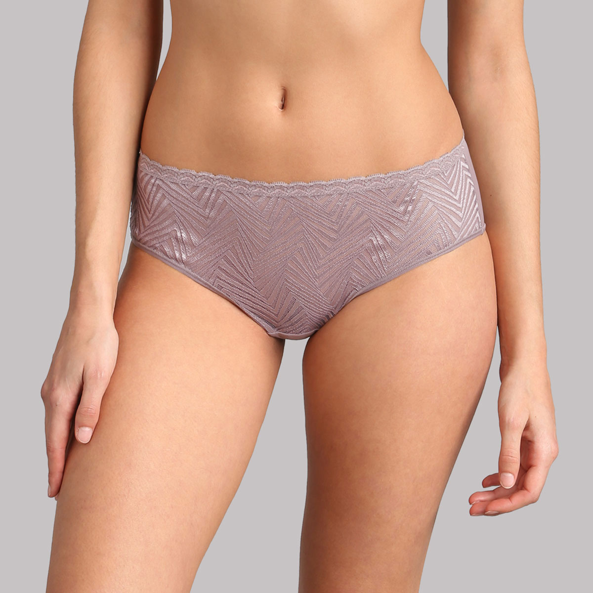 Lace midi knickers in mink - Ideal Posture, , PLAYTEX