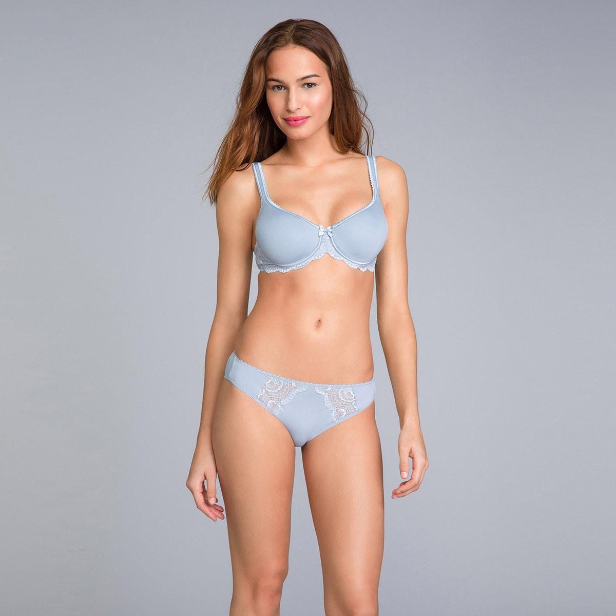 Bikini Knickers in Blue Fog Lace - Flower Elegance - PLAYTEX