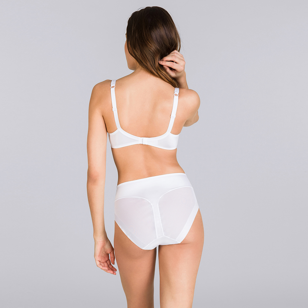 Playtex P04R3 White Soft Cup with Mesh Soft Feel Underwired Bra