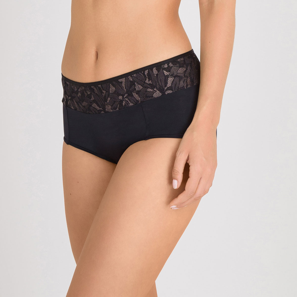 Shorty in Black and Grey - Ideal Beauty Lace-PLAYTEX