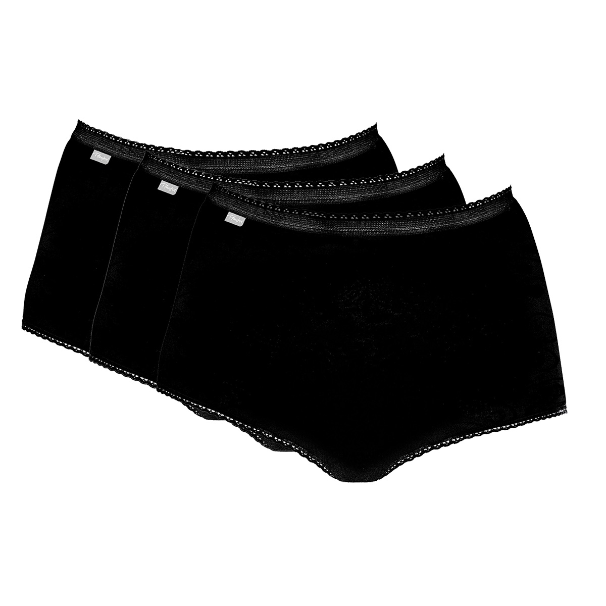 3 Cotton Maxi Briefs in black – Stretch Cotton-PLAYTEX