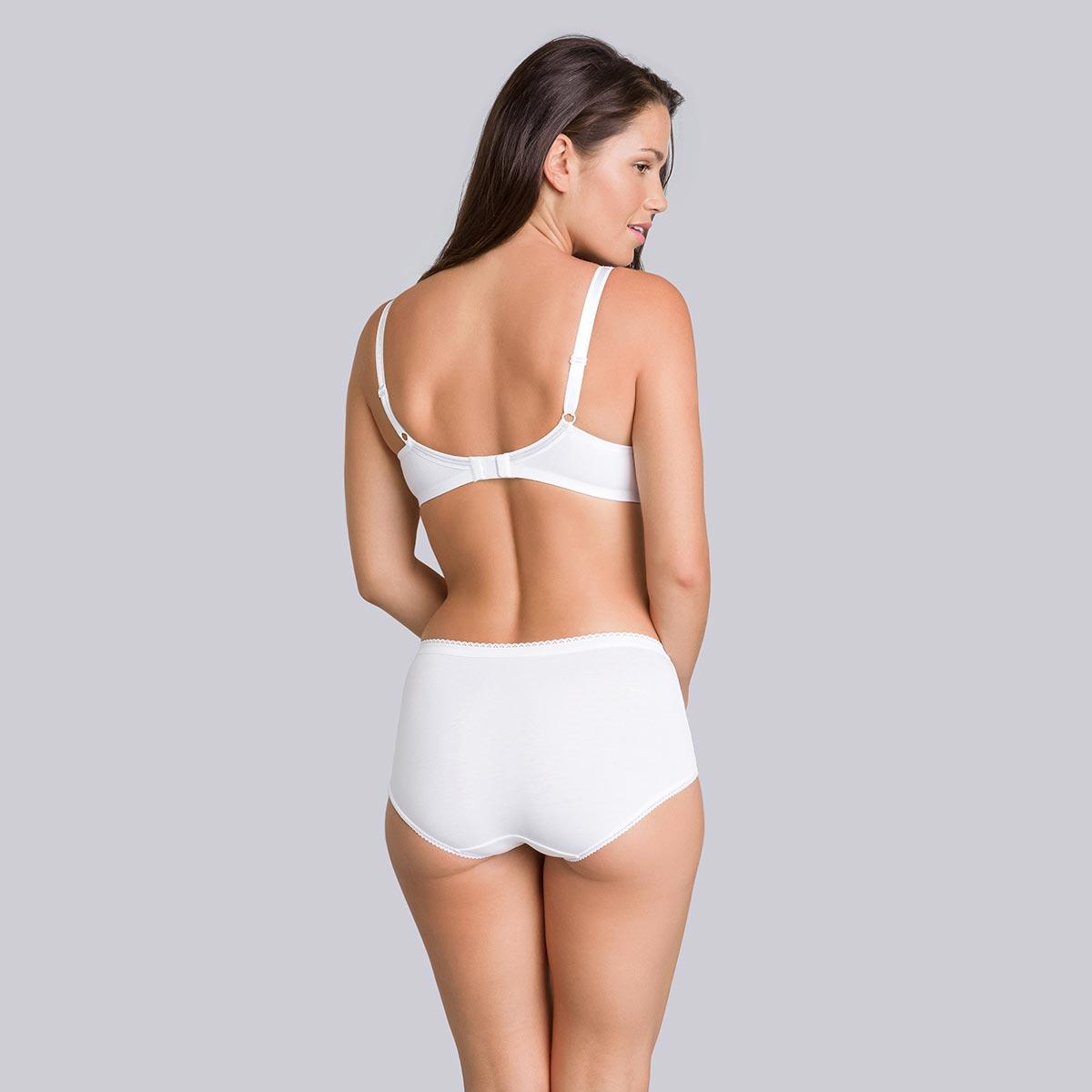 Non-Wired Cotton Bra in White - Cotton Support-PLAYTEX