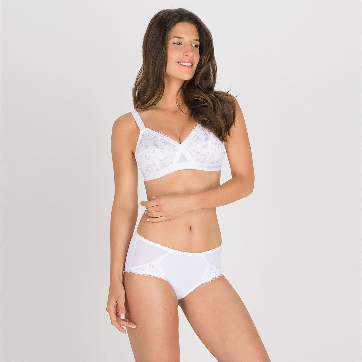 Soutien-gorge sans armatures blanc – Cœur Croisé Dentelle, , PLAYTEX