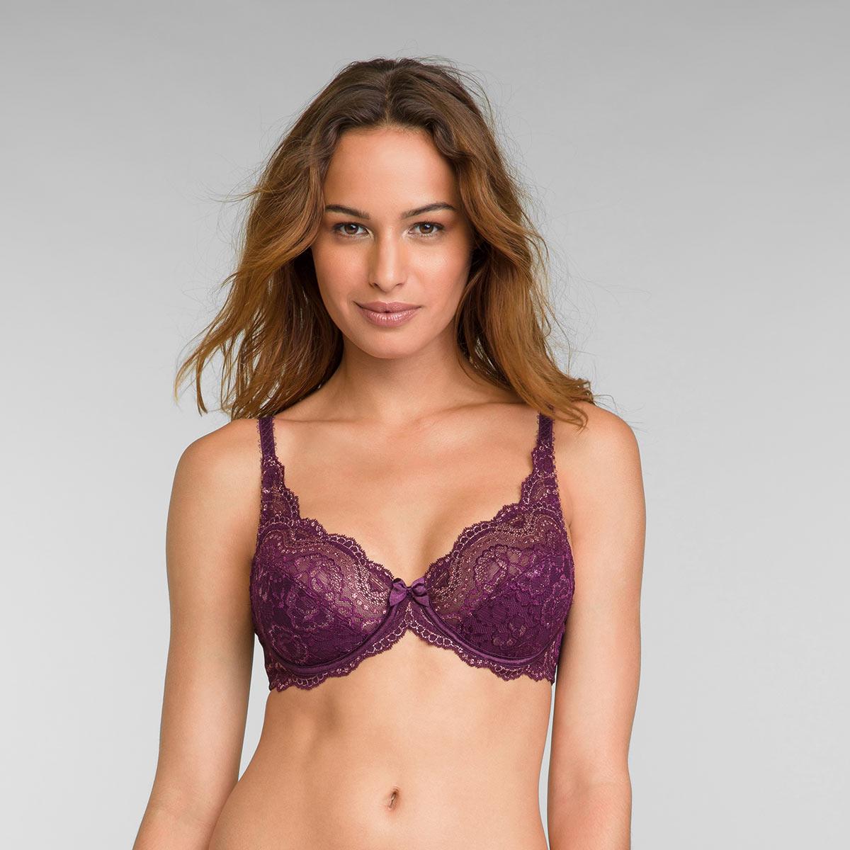 Soutien-gorge emboîtant violet et doré Flower Elegance, , PLAYTEX