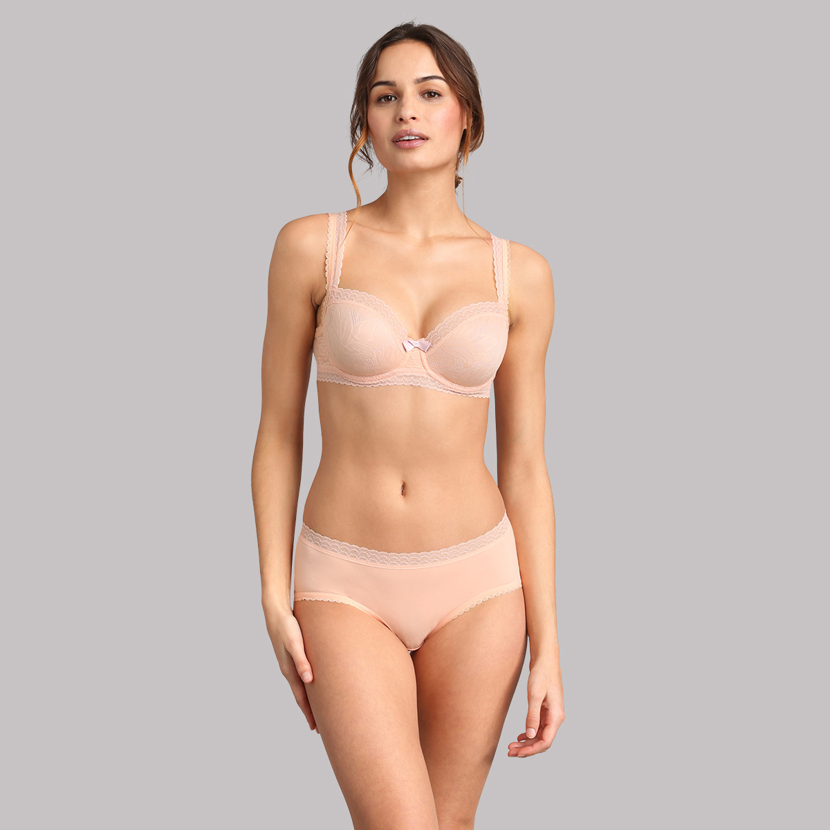 Sujetador balconnet rosa pálido Invisible Elegance, , PLAYTEX