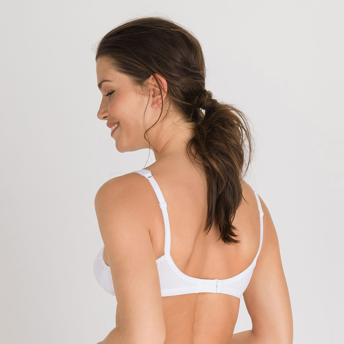 2 non-wired Bras in white – Cross Your Heart Cotton 4771-PLAYTEX