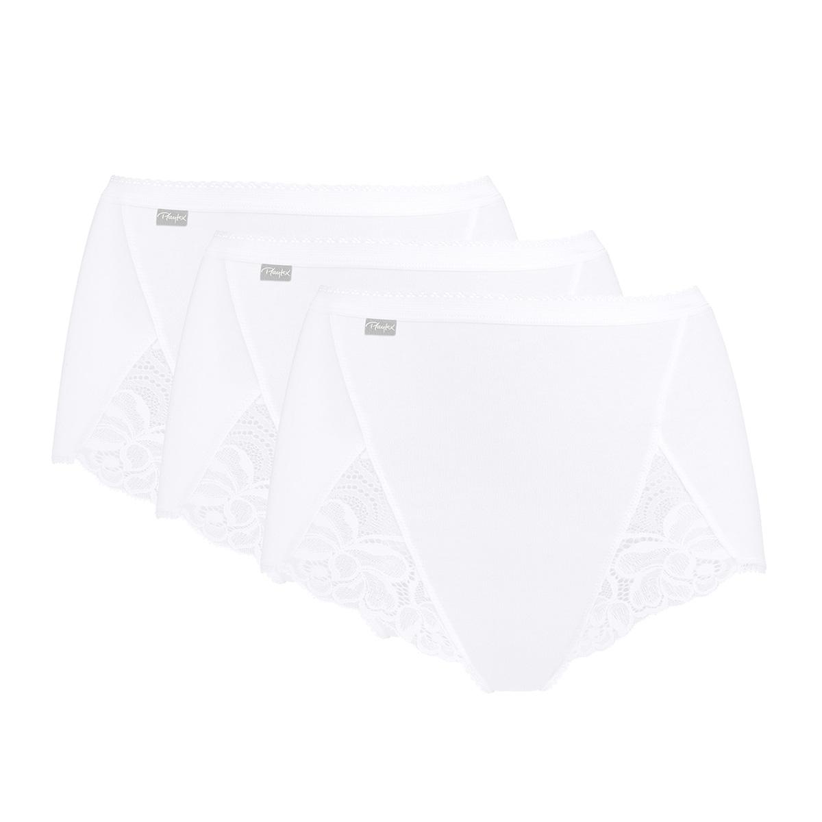 3 Culottes Maxi blanches – Coton & Dentelle, , PLAYTEX