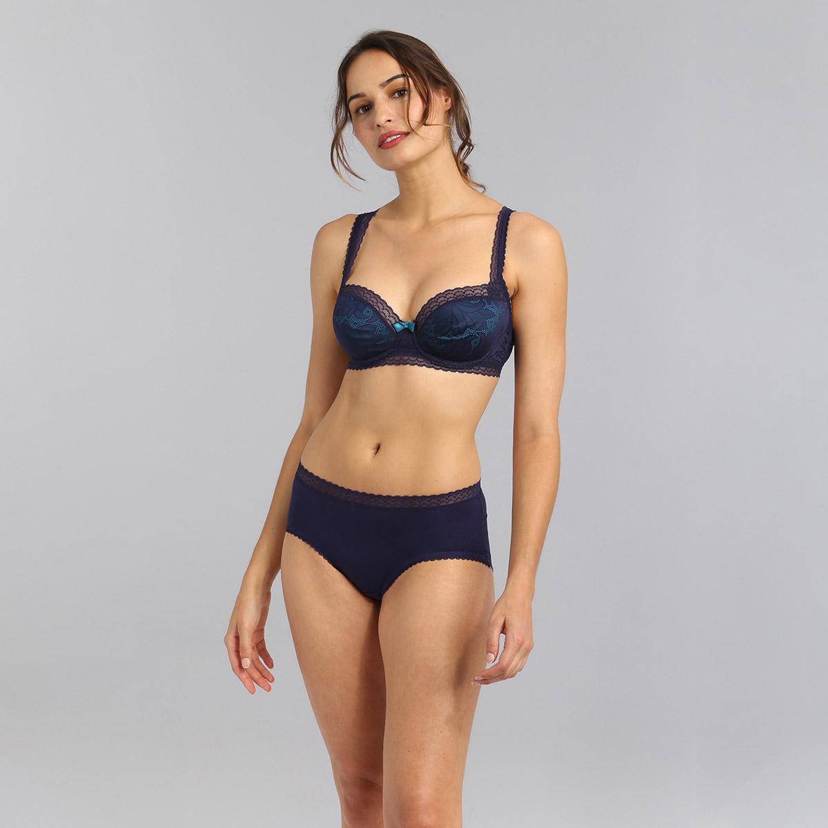 Bragas midi en azul marino Invisible Elegance, , PLAYTEX