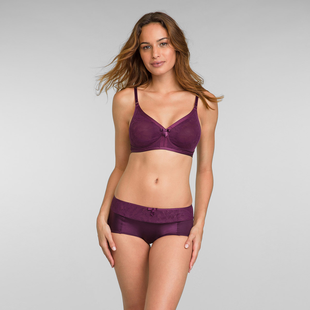 Shorty dentelle prune Ideal Beauty Lace, , PLAYTEX