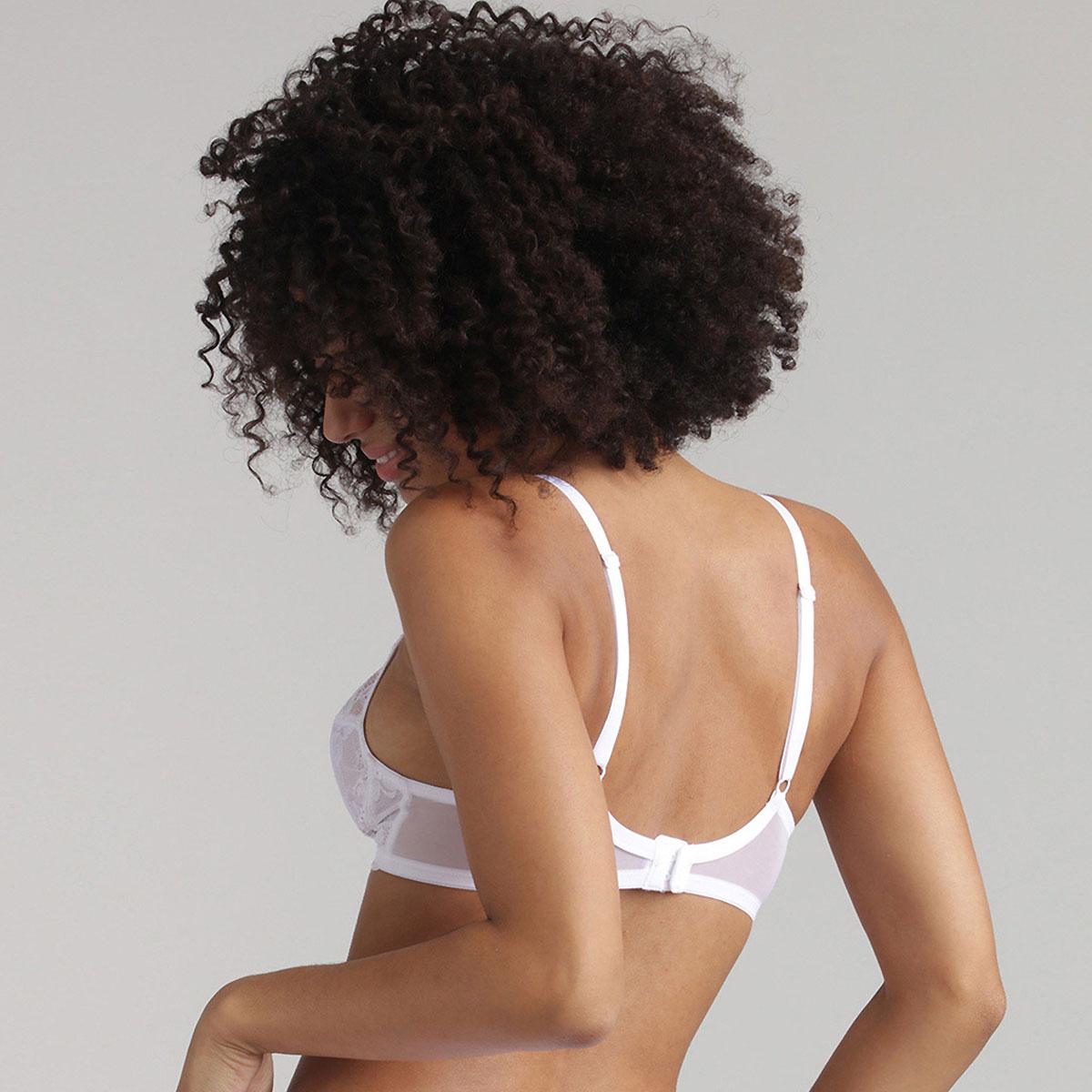 Sujetador sin aros de encaje blanco Essential Elegance, , PLAYTEX