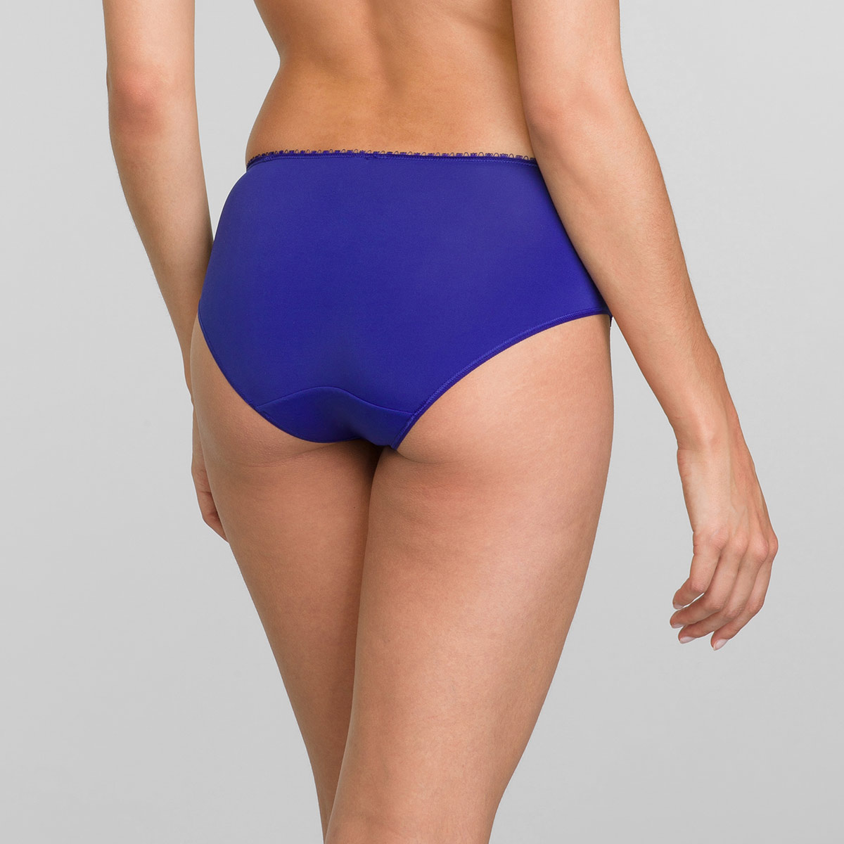 Midi Knickers in Intense Blue Flower Elegance, , PLAYTEX