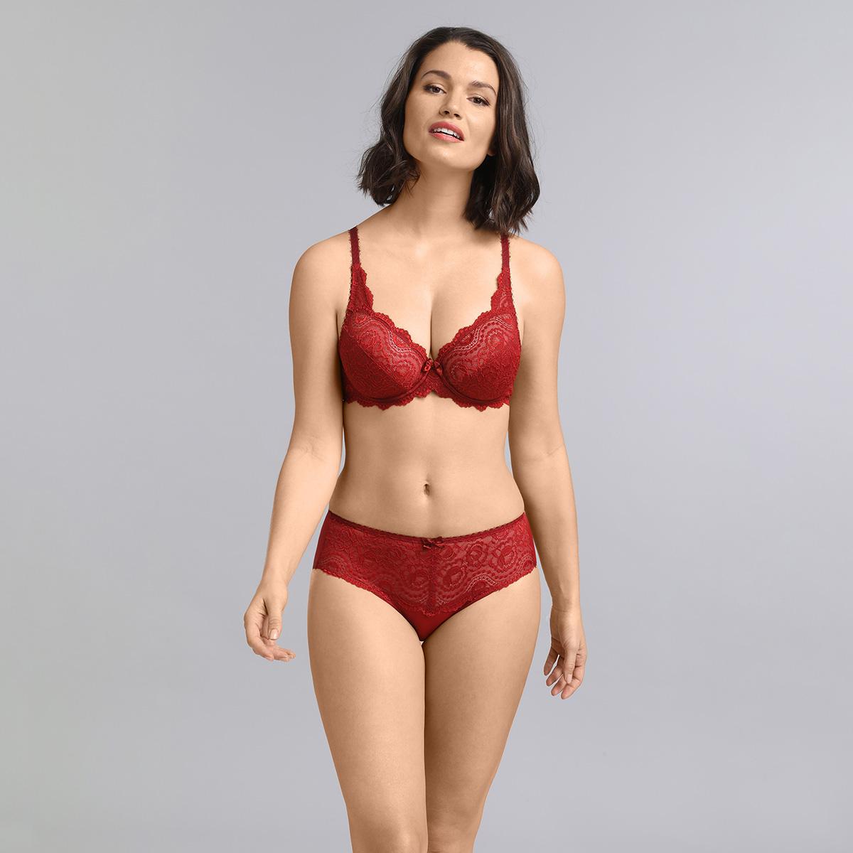 Underwired bra in dark red Flower Elegance , , PLAYTEX