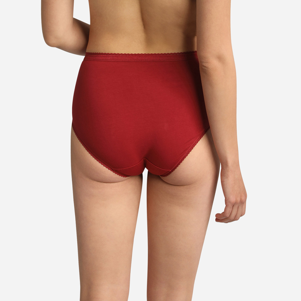 3 pack of midi briefs in beige, red and white, , PLAYTEX