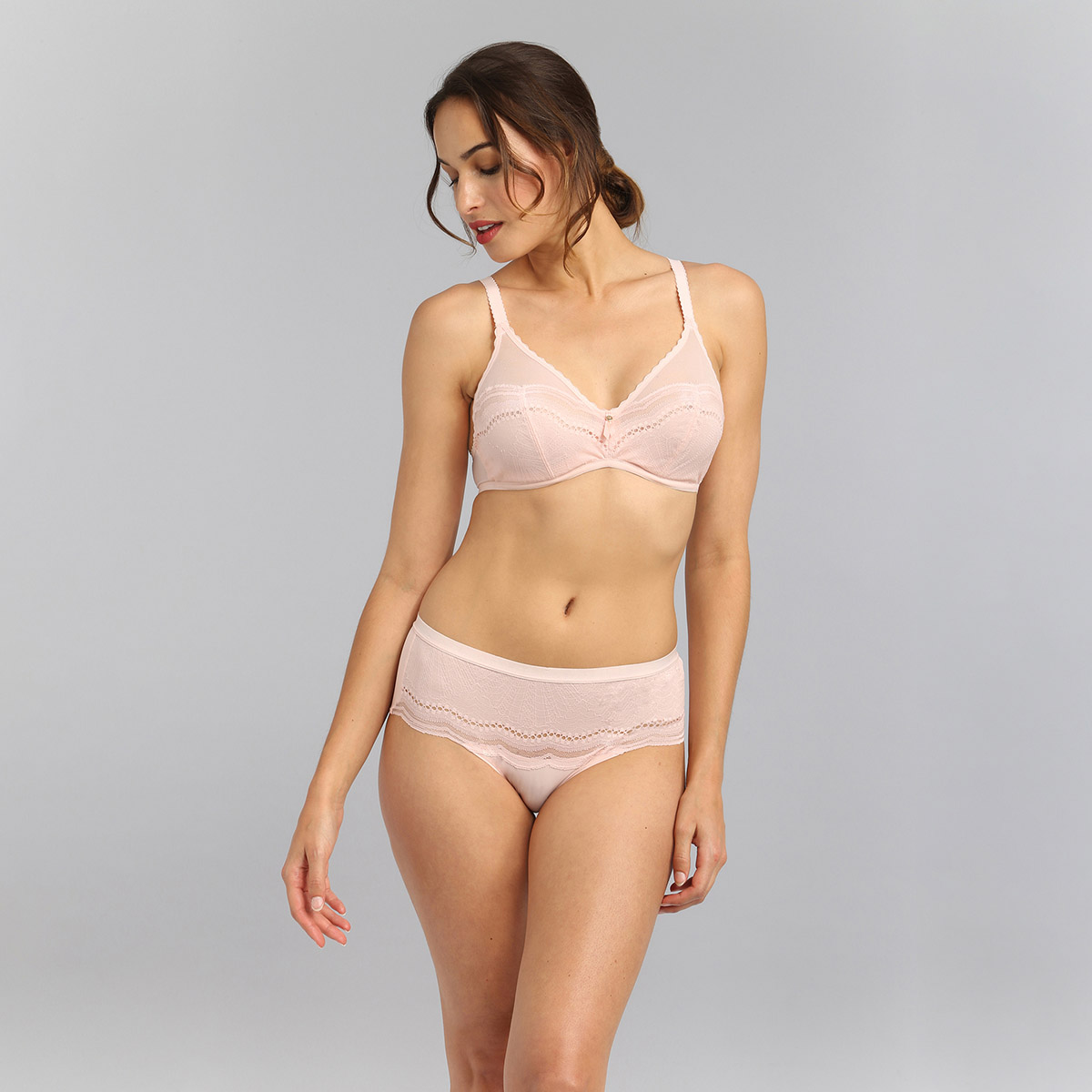 Culotte midi rose clair Secret Comfort, , PLAYTEX
